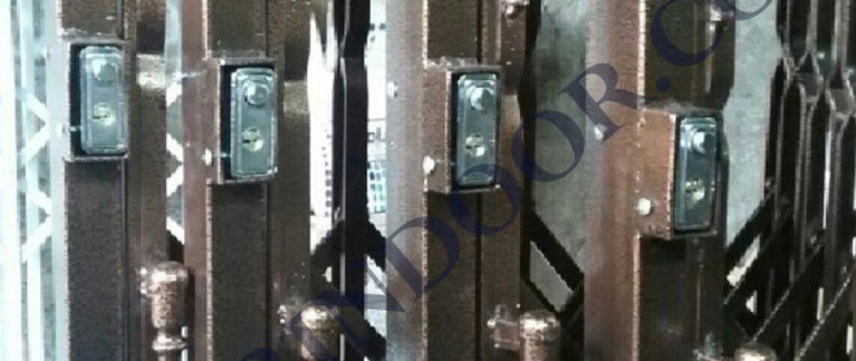 حفاظ آکاردئونی آپارتمان قفل مخفی درب آکاردئونی